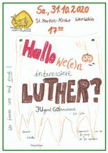 Plakat zum Jugendgottesdienst